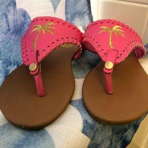 EUC Simply Southern pink flip flops size 7
